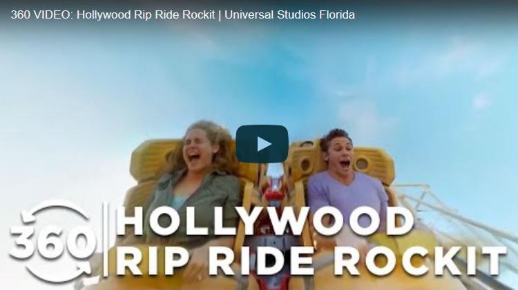 360 VIDEO: Hollywood Rip Ride Rockit | Universal Studios Florida