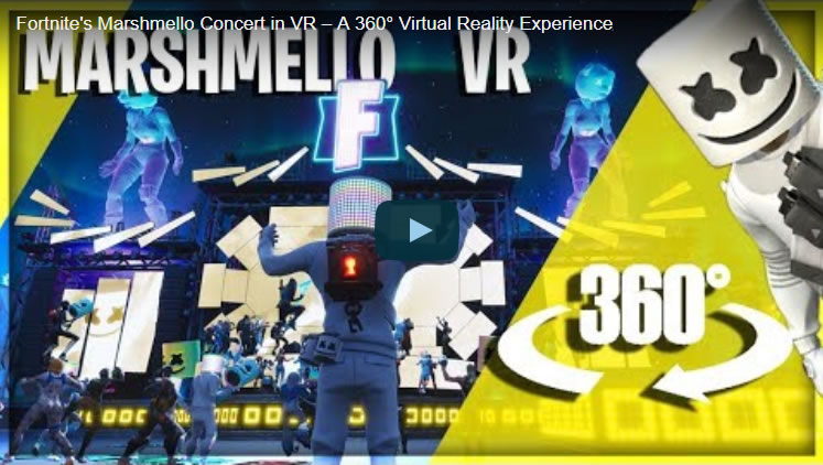 Fortnite's Marshmello Concert in VR - A 360° Virtual Reality Experience