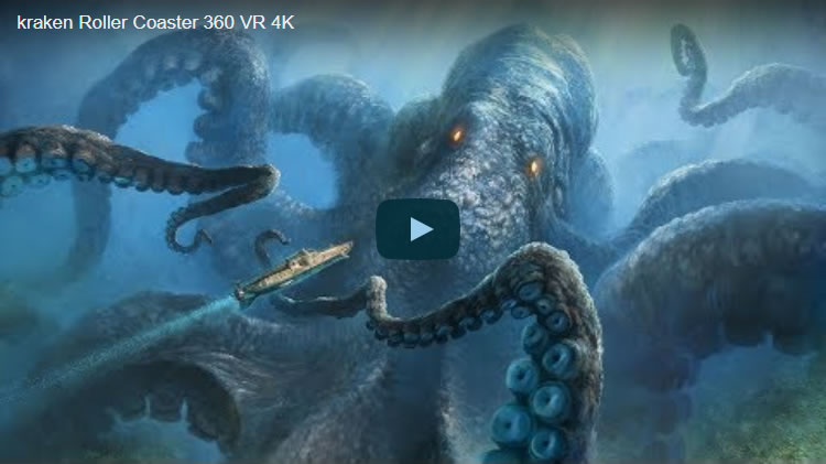 kraken Roller Coaster 360 VR 4K