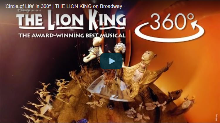 'Circle of Life' in 360o | THE LION KING on Broadway(高評価)