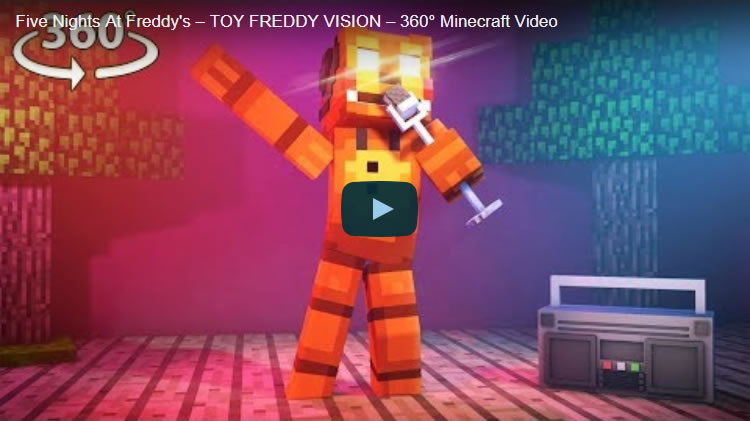 Five Nights At Freddy's - TOY FREDDY VISION - 360° Minecraft Video